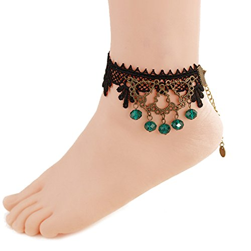 Time Pawnshop Personality Black Lace Sexy Anklet (Green) (Wet Seal Bracelet compare prices)
