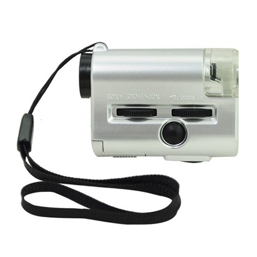 Brand New 30-60X Uv Microscope With Led Light/Currency Detecting Light