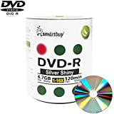 Smart Buy 100 Pack Dvd-r 4.7gb 16x Shiny Silver Blank Data Video Movie Recordable Media Disc 100 Disc 100pk