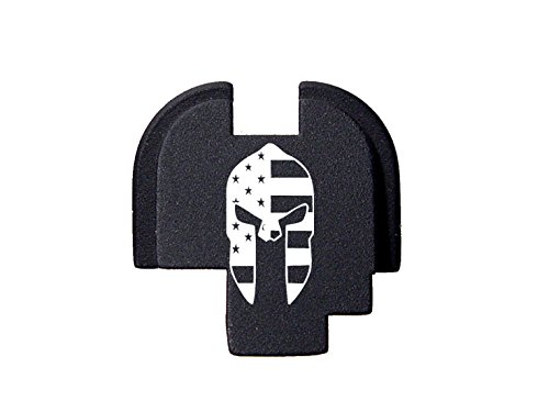 Spartan Helmet US Flag Engraved Rear Slide Cover Plate For Springfield Armory XDs 9mm .45acp -SINGLE STACK ONLY- By NDZ Performance (Springfield Rear Slide Plate compare prices)