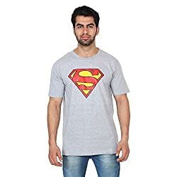 Trenders Round neck Grey Color T shirt with Superman print