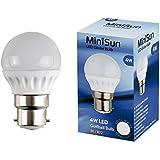 MiniSun 4w LED BC B22 Golfball Energy Saving Long Life Light Bulb - 6500K Cool White/Daylight