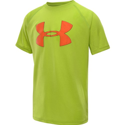 Boys' Big Logo UA Tech™ T-Shirt Tops by Under Armour Youth Large Fusion