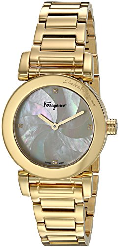 Salvatore-Ferragamo-Womens-LADY-Quartz-Stainless-Steel-Casual-Watch-ColorGold-Toned-Model-FP1730016