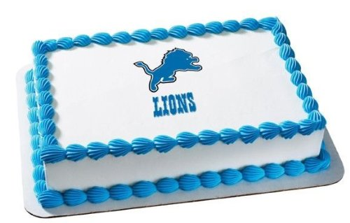 1/4 Sheet ~ NFL Detroit Lions Football ~ Edible