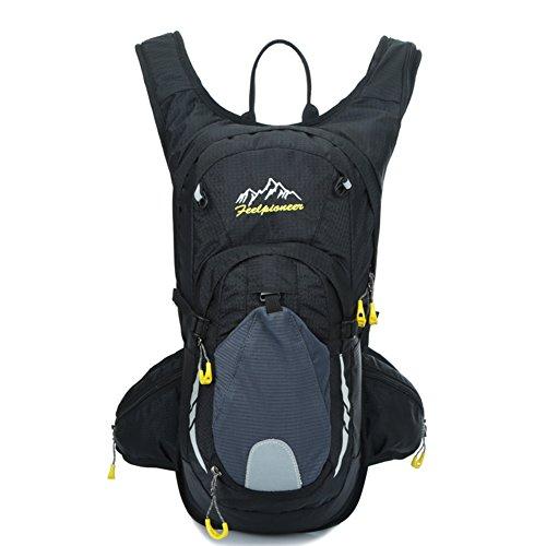sac de vélo professionnel / sac d'escalade en plein air / sac de sport / Backpack Voyage-noir 15L