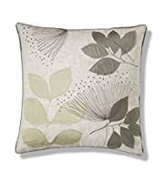 Leaf Embroidered Cushion