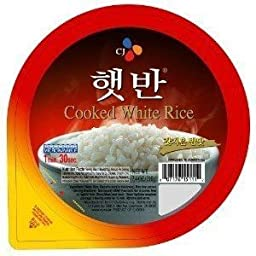 CJ Cooked White Rice, 7.4-ounce Containers, (Pack of 36)