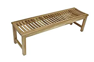 Amazon.com : 60quot; Solid Teak Indoor Outdoor Bench or Shower