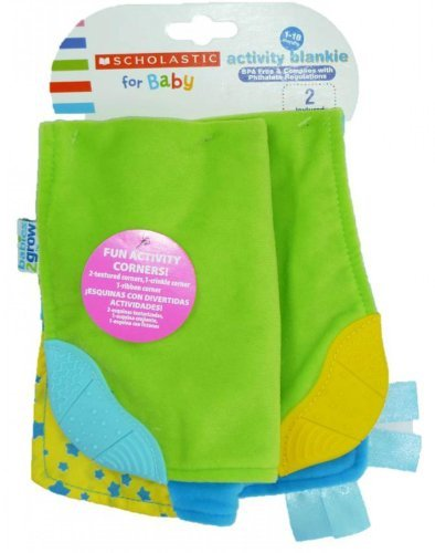 Scholastic for Baby Activity Blankie (Blue/Green)