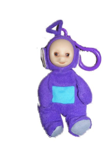 "Burger King Kids Meal 6"" Teletubbies Mini Bean Plush Finger Puppet & Backpack Clip - Tinky Winky - 1"