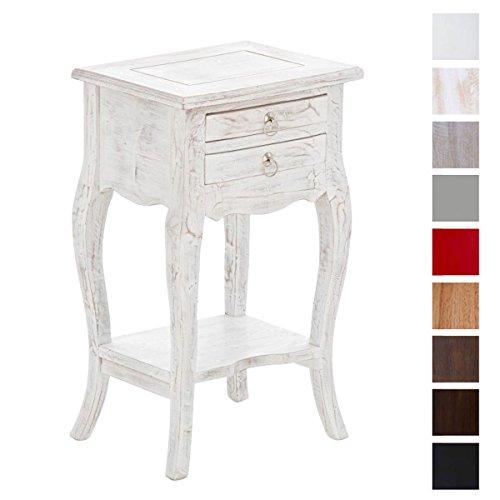 CLP-Beistell-Tisch-LINDA-Mahagoni-Holz-bis-zu-8-Farben-whlbar-Kolonialstil-auch-als-Nachttisch-Telefontisch-Pflanzentisch-verwendbar-rustic-wash