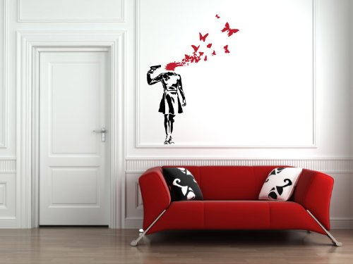 Suicide Butterflies Banksy Wall Decal