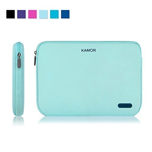 Kamor 15 15.6 16 inch Water-resistant Neoprene Laptop Sleeve Case Bag/Notebook Computer Case/Briefcase Carrying Bag/Skin Cover for Acer/Asus/Dell/Fujitsu/Lenovo/HP/Samsung/Sony/Toshiba(Green)