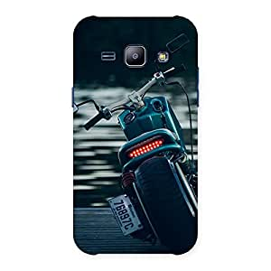 Gorgeous Bike Chopper Multicolor Back Case Cover for Galaxy J1