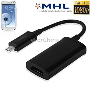 Original Version Full HD 1080P MHL HDTV Adapter for Samsung Galaxy S III / i9300 (EPL-3FHUBKG)