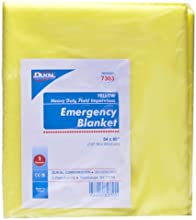 Yellow Emergency Blanket Size 54 x 80 Qty 1 Each