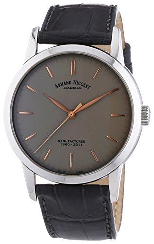 armand-nicolet-herren-mechanische-armbanduhr-mit-grauem-zifferblatt-analog-anzeige-und-grau-lederban