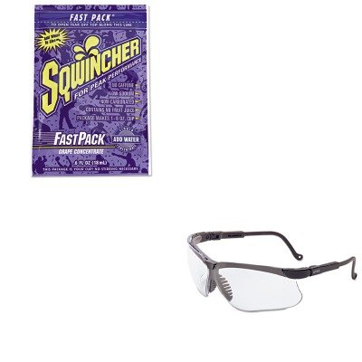 Kitsqw015302Gruvxs3200X - Value Kit - Sqwincher Corp Fast Pack Drink Package (Sqw015302Gr) And Uvex Genesis Safety Eyewear (Uvxs3200X)