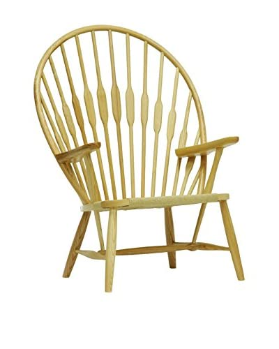 Baxton Studio Newlin Windsor Style Accent Chair, Natural