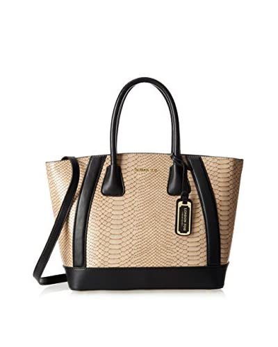 London Fog Women's Heather Tote, Natural Snake, One Size