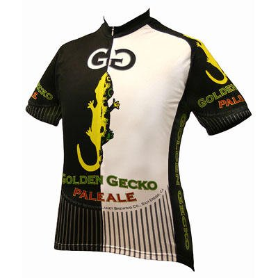 Image of World Jersey's Men's Golden Gecko Pale Ale Short Sleeve Cycling Jersey (B001V6UETO)