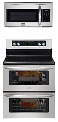 """Frigidaire Ultimate Cooking Combo-Frigidaire Gallery 30"""" Freestanding Electric Double Oven Range With A Matching Gallery 1.7 Cu Ft Over The Range Microwhood. (Fgef306Tmf_Fgmv175Qf)"""