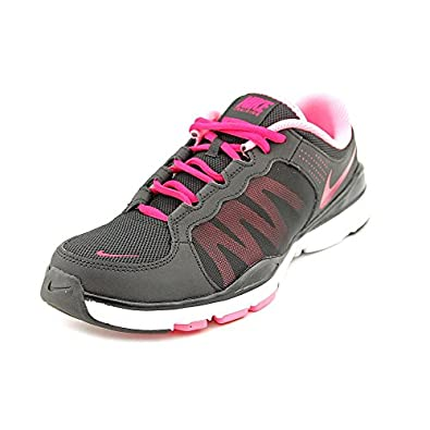 Nike Women's Flex Trainer 2 - Black / Sport Fuschia-Pink-White, 10 B US