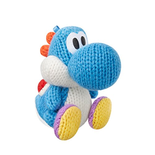Light Blue Yarn Yoshi Amiibo (Yoshi's Woolly