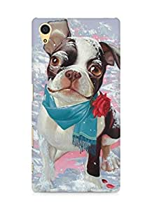 Amez designer printed 3d premium high quality back case cover for Sony Xperia Z5 (Winter love dog)