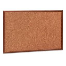 Cork Bulletin Board, 36 x 24, Oak Frame, Sold as 1 Each