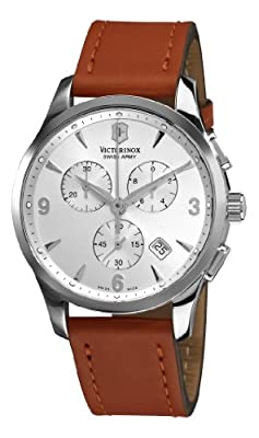 Victorinox Swiss Army Men's 241480 Alliance Silver Chronograph Dial Watch
