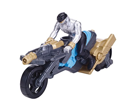 "Power Rangers Super Megaforce - Turbo Cycle and 4"" Silver Ranger Action Figure - 1"