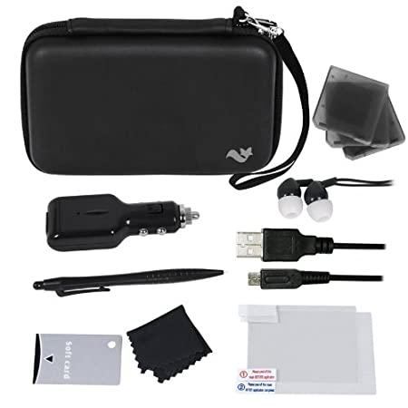 ButterFox Deluxe 12-in-1 Accessory Travel Pack / Case For the New 3DS XL Console: Black (Nintendo 3DS XL)