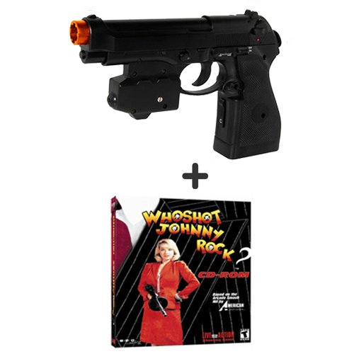 Ems Top Gun 3 Who Shot Johnny Rock Mystery Pc Game Pack - Wireless Light Gun For Pc, Mame, Ps2, Ps3, And Xbox On Any Display Including Crt, Lcd, Plasma, Hd Tvs And Projectors!