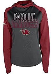 NCAA South Carolina Fighting Gamecocks Women\'s Energy Long Sleeve Hooded Top Shirt, Large, Garnet