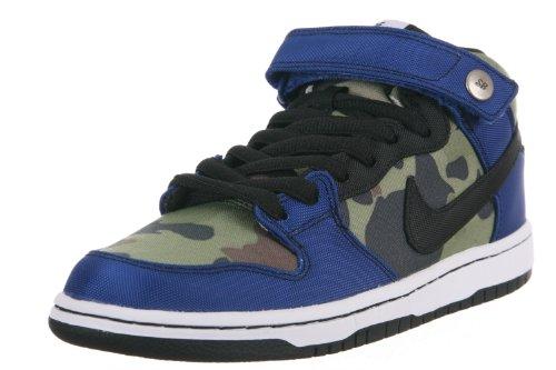 Nike Men'S Dunk Mid Pro Premium Sb Old Royal/Black/White Skate Shoe 10 Men Us