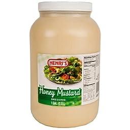 Henris Honey Mustard Dressing, 1 Gallon -- 4 Case