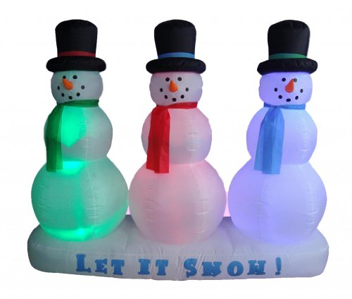 6 Foot Christmas Inflatable Snowman on Snow Yard Garden Decoration