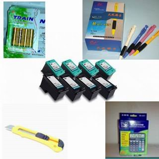 A great deal : 8-pack (4 black+4 color) HP 94 95 + 12 digit calculator + 5 ball pen + cutter, snap off, + 4-pk AA batteries, great Value........!!!!... for printers C8765WN C8766WN Remanufactured ink inkjet cartridges Combo Pack Ink Compatible with: Deskj