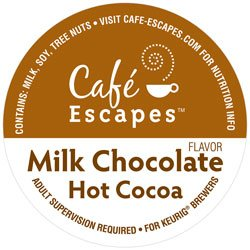 Cafe Escapes Milk Chocolate Hot Cocoa KCups, K-Cups for Keurig Brewers, 12 pack