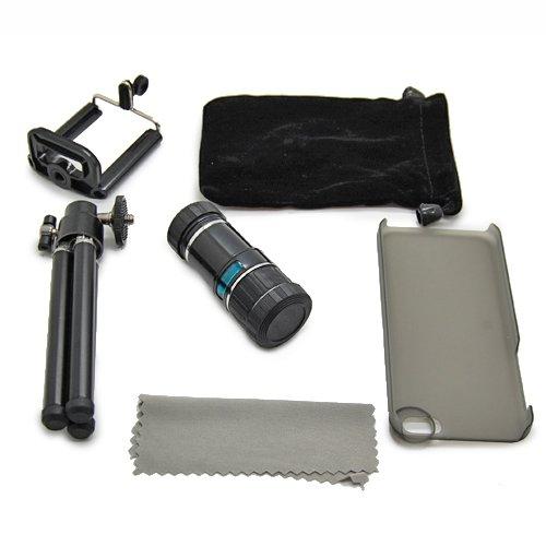 12X Zoom Phone Camera Lens Telescope Telephoto + Case + Tripod For Iphone 5C