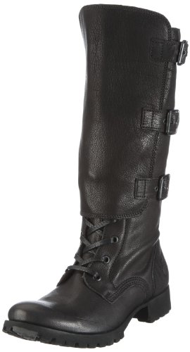 Fly London Women's Gail Black Biker Boots P141975003 5 UK