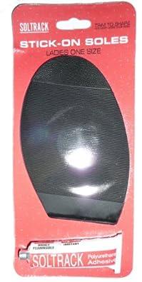 eCobbler Ladies Shoe Repair Kits, 1 pair of Soles in Black with Glue