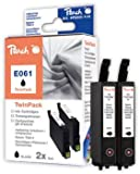 Peach Twin Pack Ink Cartridges black, compatible with Epson T0611