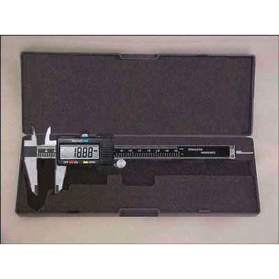 6 Inch LCD Digital Caliper with Extra Battery and Case