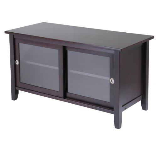 Cheap TV Media Stand with sliding doors (92044A)
