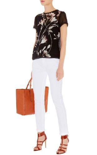 Soft Silk Black And White Print Shirt