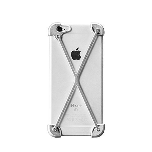 D-park Anti Fall Off Aluminium Metal Bumper Frame Case for iPhone 6/6s Plus, Leather Back Cover Attached Selection ( Only Aluminium Metal Frame) (Iphone 6 Metal Bumper Case compare prices)