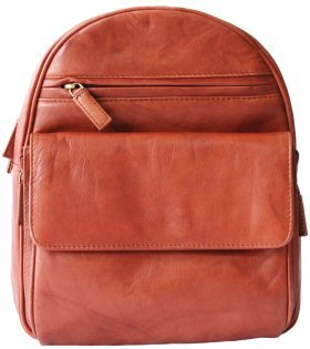 Visconti Leather Backpack Style 01433 Brown